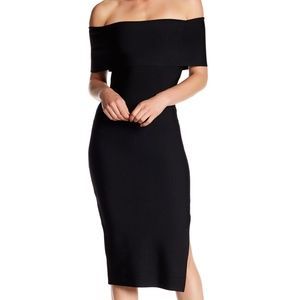 NWT Dalia MacPhee Off-the-Shoulder Midi Dress